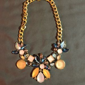 large flower chain necklace